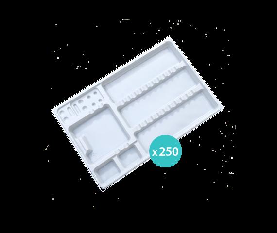 Disposable plastic trays x 250
