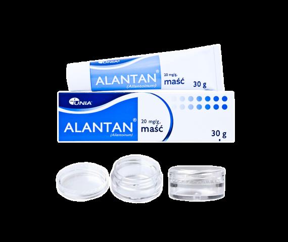 Alantan healing balm + 10 empty jars