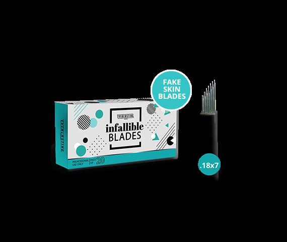 FAKE SKIN BLADES Box of 20 Slanted 0.18mm / 7 needle