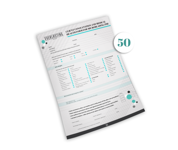 Client consultation Forms pack of 50