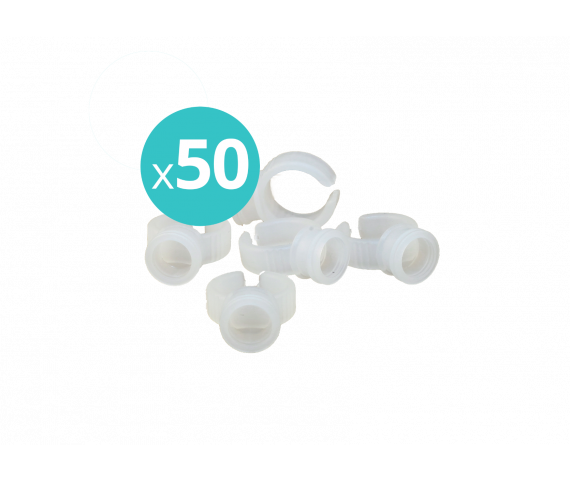 Pigment rings pack of 50 (white and turquoise)
