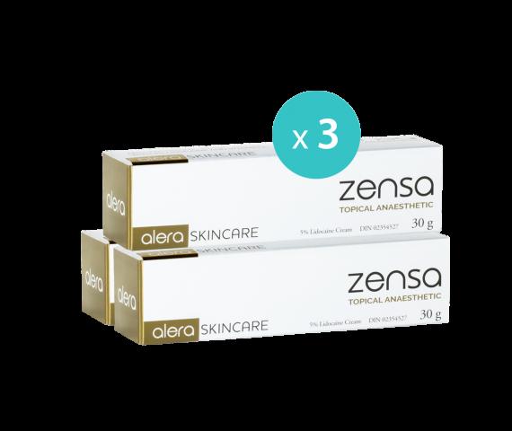 3 x Zensa Pre-procedure Cream 30g MULTISAVE